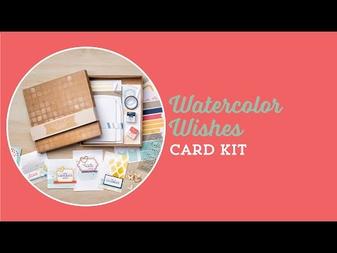The Watercolor Wishes Card Kit