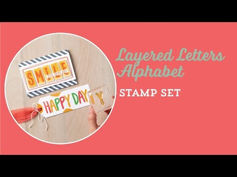 The Layered Letters Alphabet Stamp Set